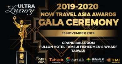 2019-2020 NOW TRAVEL ASIA AWARDS GALA CEREMONY, 15 NOVEMBER 2019, FULLON HOTEL TAMSUI FISHERMAN'S WHARF, TAIWAN